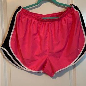 2X hot pink nike shorts